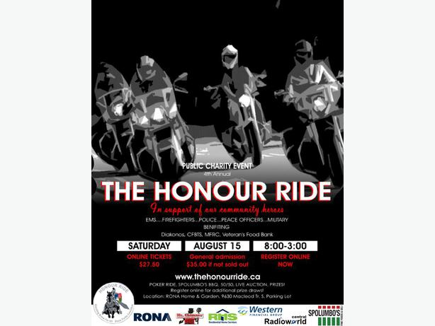 motorcycle charity event the honour ride south east calgary