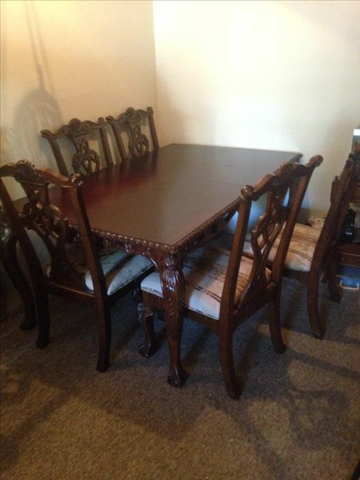 Beautiful Antique Dining Room Table With 5 Chairs Victoria