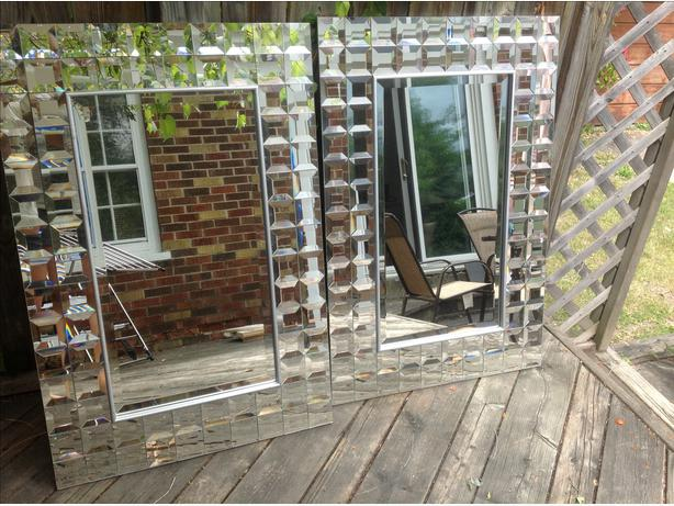 Two decorative wall mirrors on sale central ottawa for Fancy wall mirrors for sale