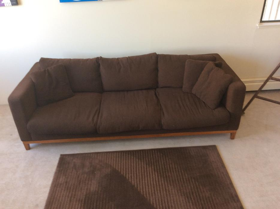 Reduced 3seater brown couch sofa bed vancouver city vancouver for Sofa bed vancouver sale