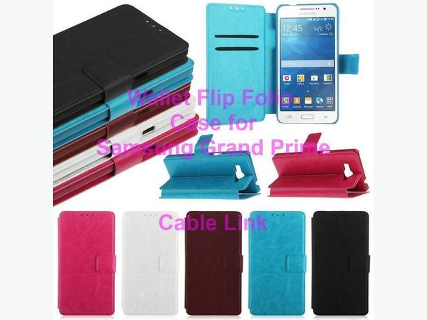 Flip Wallet Folio Stand Case for Samsung Grand Prime
