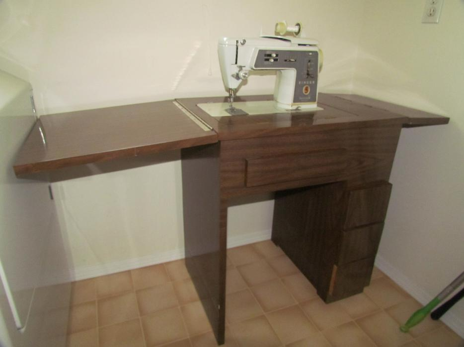 singer sewing machine cabinets used