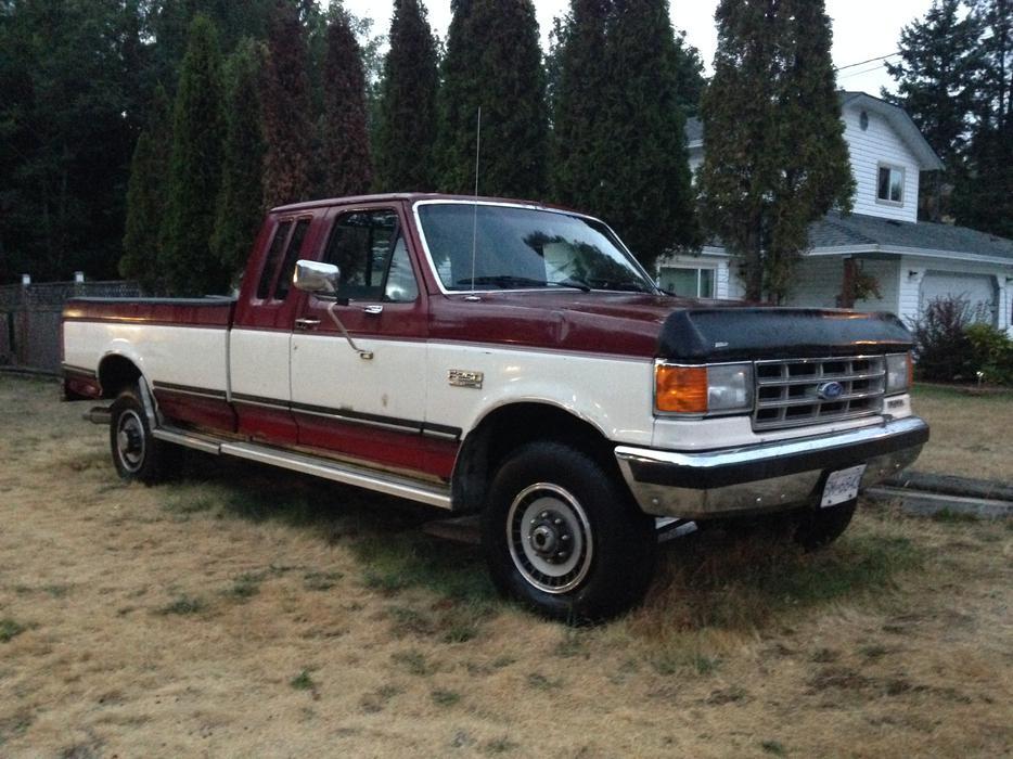 1988 ford f 250 full trim pickup truck north nanaimo. Black Bedroom Furniture Sets. Home Design Ideas