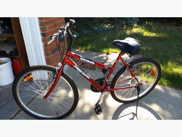 Red Supercycle bicycle