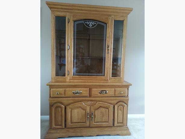 Solid oak dining set and cabinet South West Calgary : 48382570614 from www.usedcalgary.com size 614 x 461 jpeg 25kB