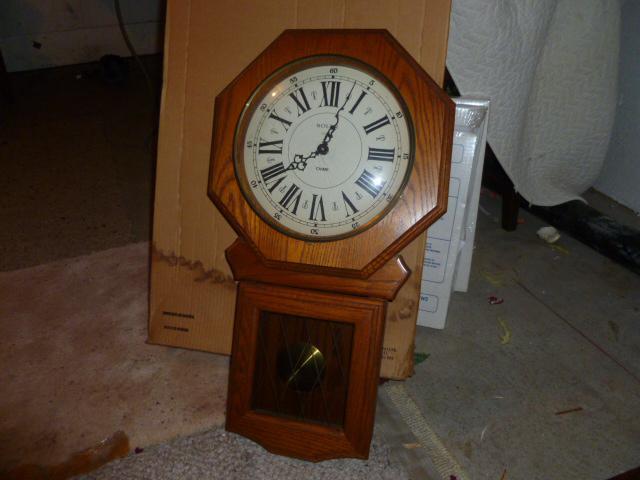 solid oak chime wall clock saanich victoria