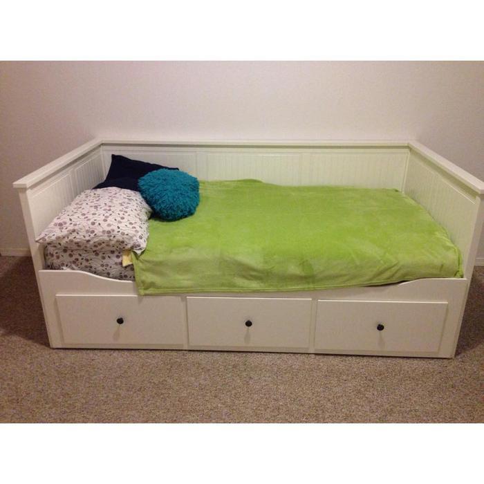 hemnes daybed frame with 3 drawers white ucluelet alberni. Black Bedroom Furniture Sets. Home Design Ideas