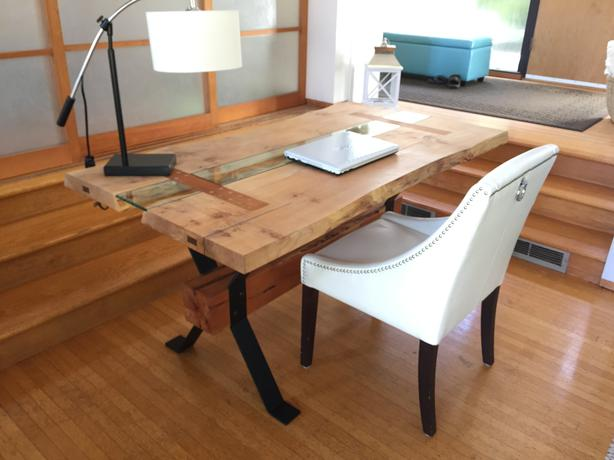 LIVE EDGE Dining Table Or Executive Desk 1 OF A KIND Vancouver Island