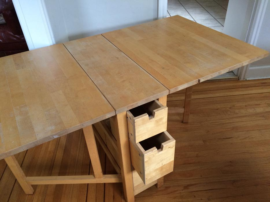 Wanted Ikea Gate Leg Table Oak Bay Victoria Mobile