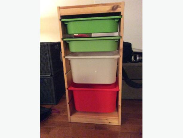 ikea trofast storage unit w plastic bins orleans ottawa. Black Bedroom Furniture Sets. Home Design Ideas
