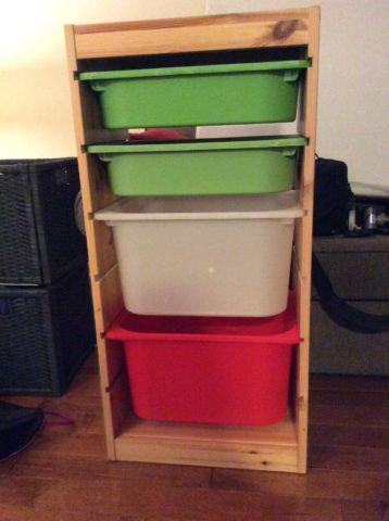 Ikea trofast storage unit w plastic bins orleans ottawa for Mobile trofast