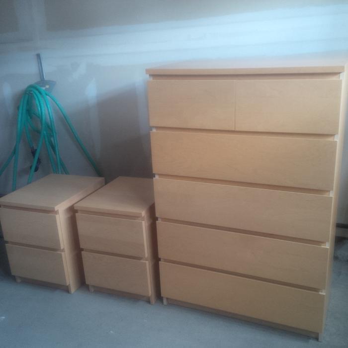 Ikea dresser 2 night stands malm series nepean gatineau - Ikea serie malm ...