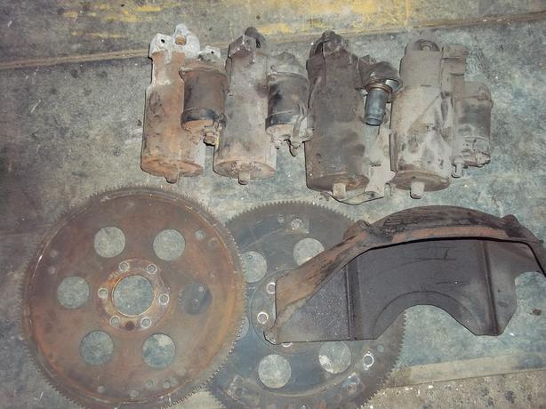 V8 OLDS FLEXPLATES AND STARTERS