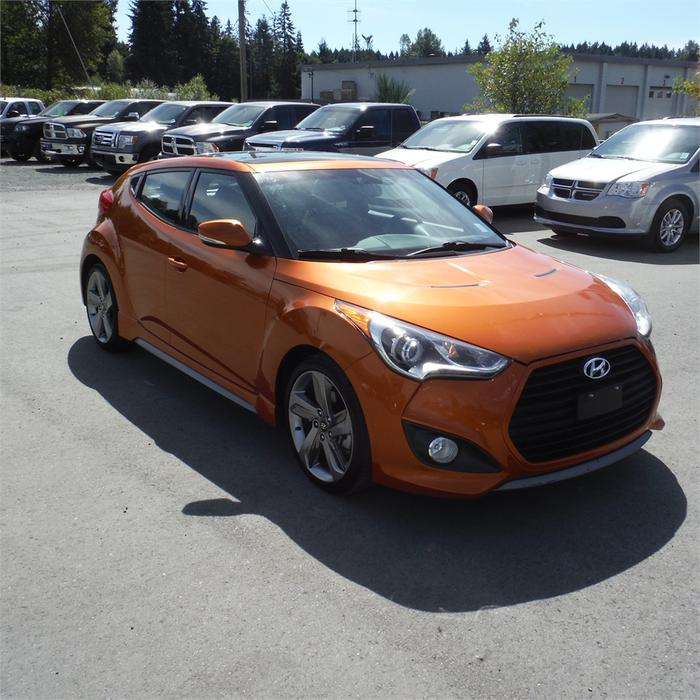 Used Hyundai Veloster Turbo Automatic: 2013 Hyundai Veloster TURBO=-NAV, Leather,Bluetooth Duncan
