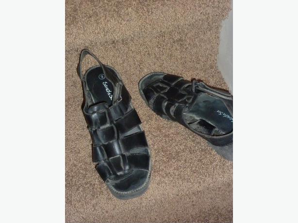 Black Sandals - Size 9