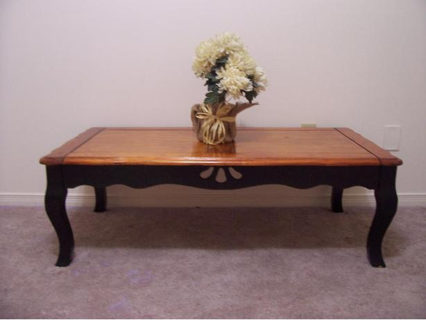 Rustic chic large black coffee table for sale i deliver gloucester ottawa Rustic black coffee table