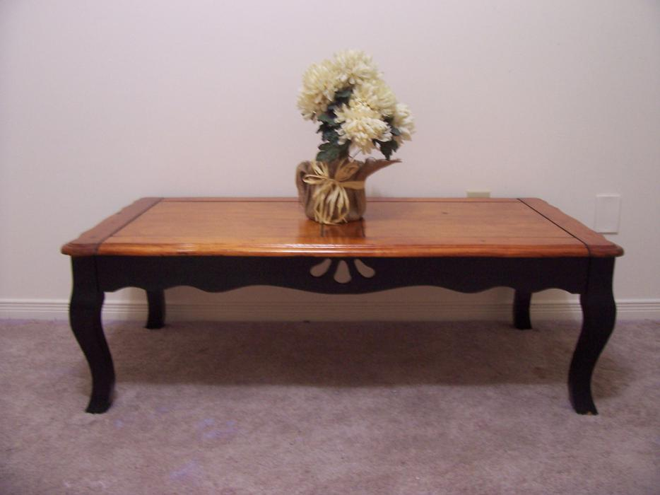 Rustic Chic Large Black Coffee Table For Sale I Deliver Gloucester Ottawa