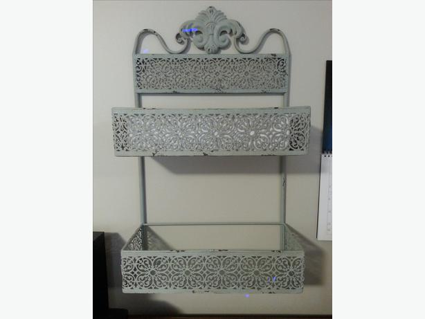 vintage metal shelving unit saanich victoria. Black Bedroom Furniture Sets. Home Design Ideas