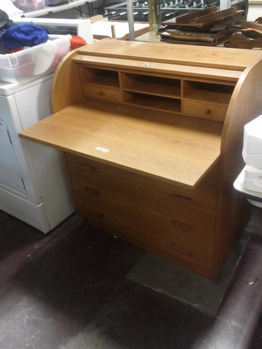 Teak Roll Top Desk Ladysmith Cowichan