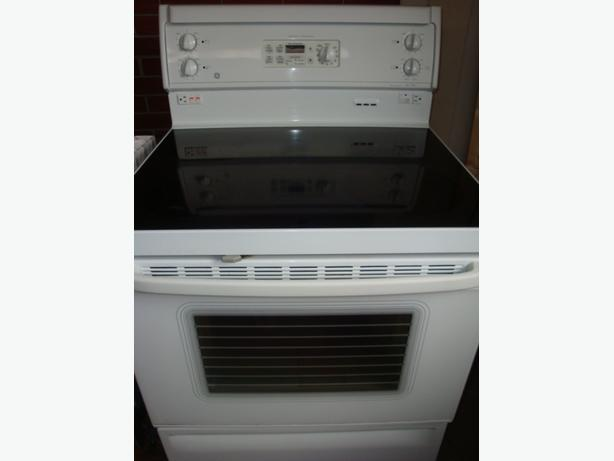 Flat Top Stove ~ Ge flat top stove with self clean and convection oven