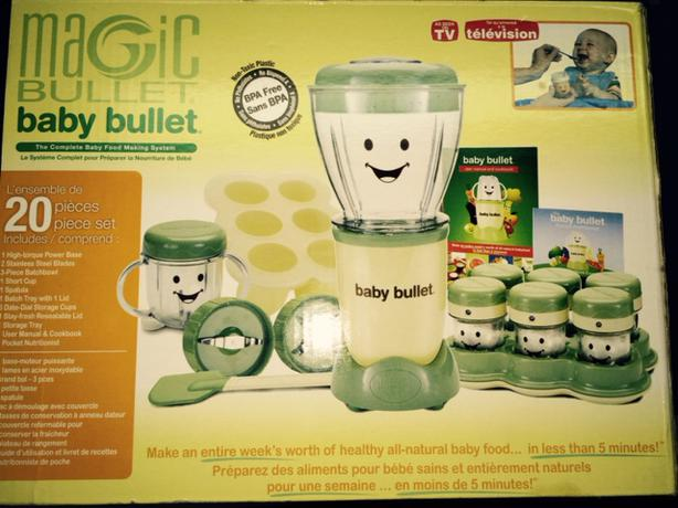 magic bullet baby bullet blender full unit 20 piece set nepean ottawa. Black Bedroom Furniture Sets. Home Design Ideas
