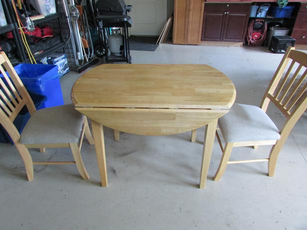 apartment sized solid wood dining room set west shore langford