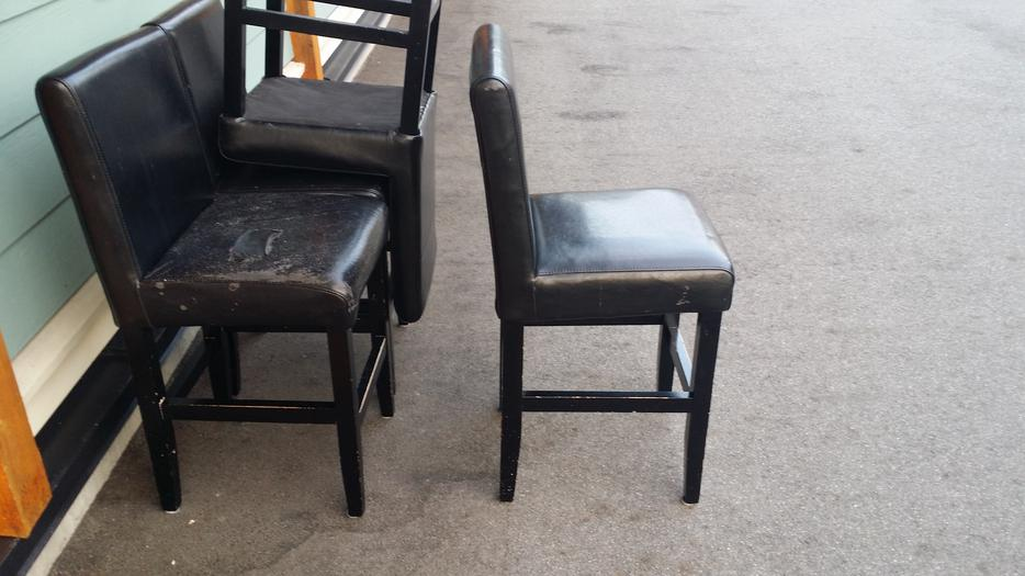 Four leather bar stools or counter stools Saanich  : 48450295934 from www.usedvictoria.com size 934 x 525 jpeg 65kB