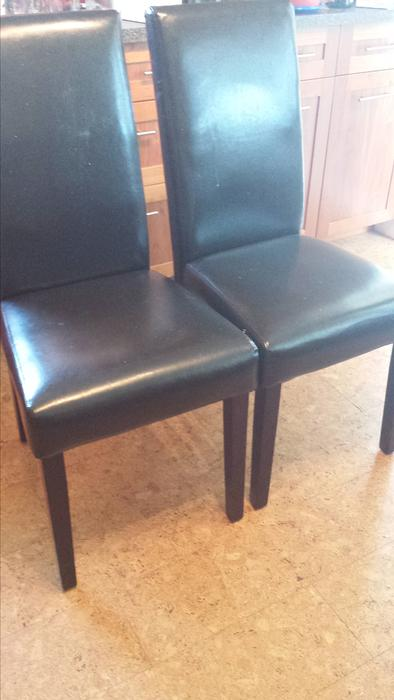 free leather dining chairs saanich victoria