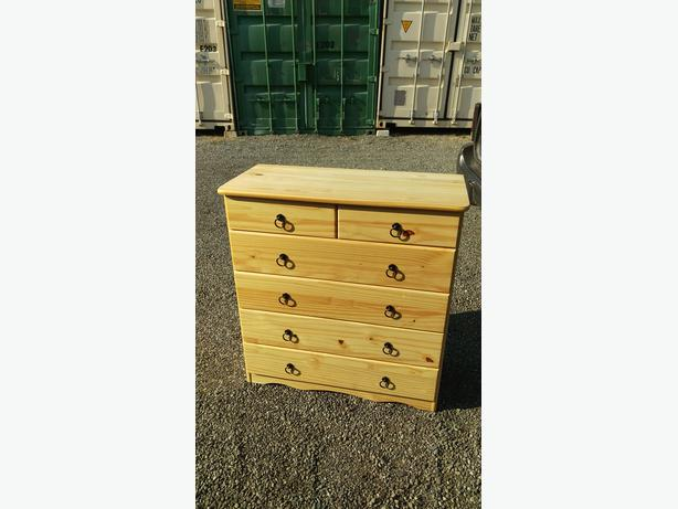 Solid pine bedroom drawer chest of drawers central