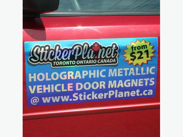 Unique Holographic Vehicle Door Magnets for Cars and Trucks