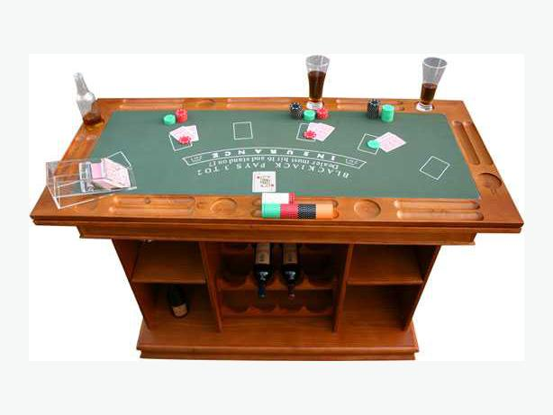 Games table solid wood with built in bar nepean ottawa