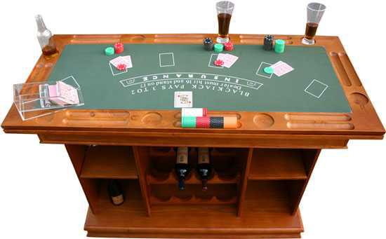 4 1 games table solid wood with built in bar nepean ottawa