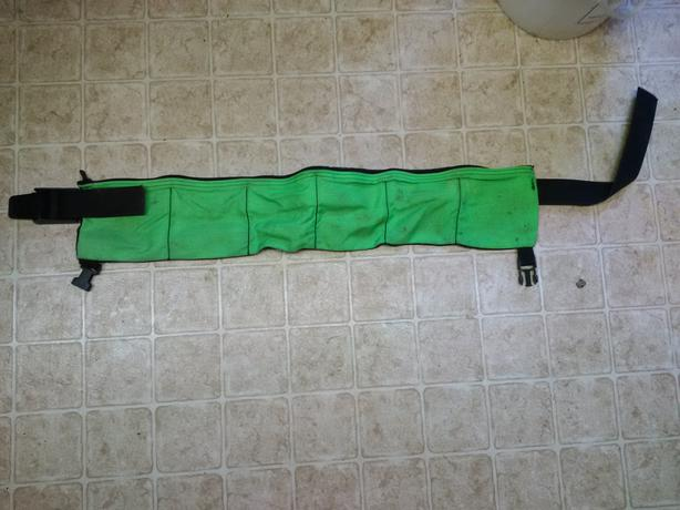 soft weight belt for weight pouches or blocks