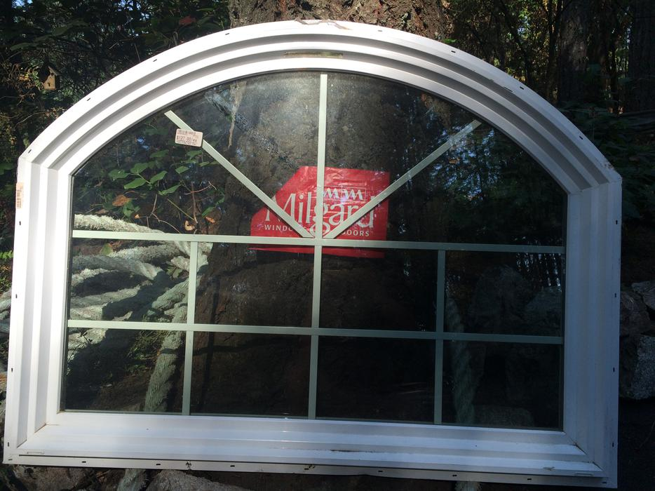 Vinyl Arched Window : Arched vinyl window central saanich victoria