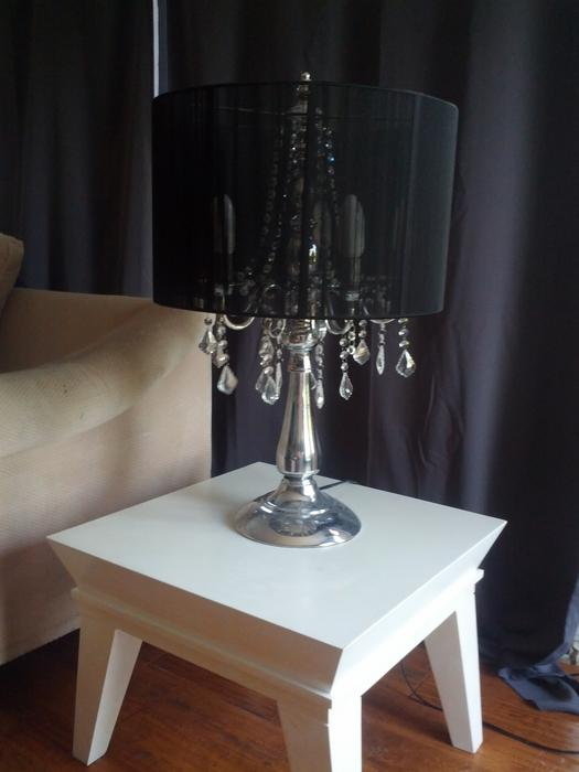 Set Of Urban Barn Crystal Chandelier Table Lights