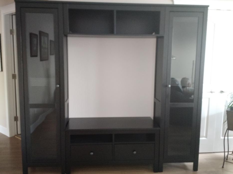 ikea hemnes entertainment center outside victoria. Black Bedroom Furniture Sets. Home Design Ideas