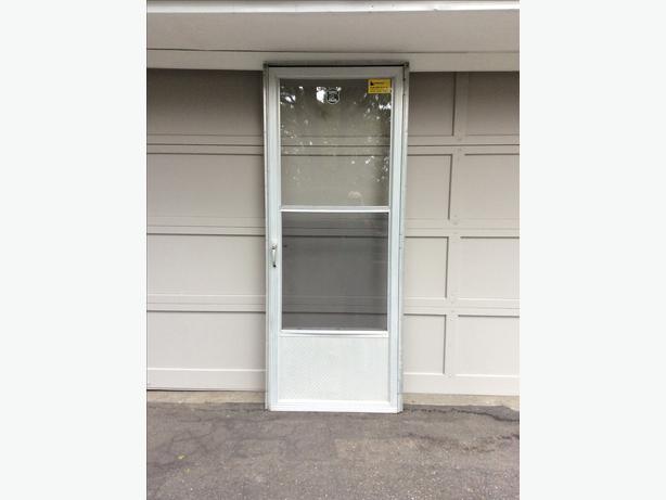 Aluminum storm door 32 central saanich victoria for All glass storm door