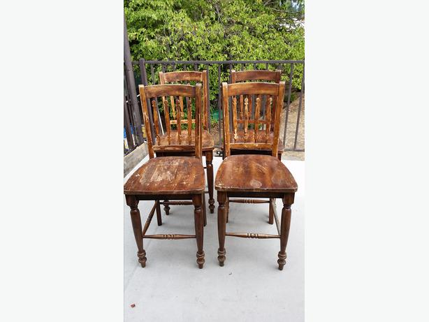 24 Quot High Solid Wood Chairs West Shore Langford Colwood