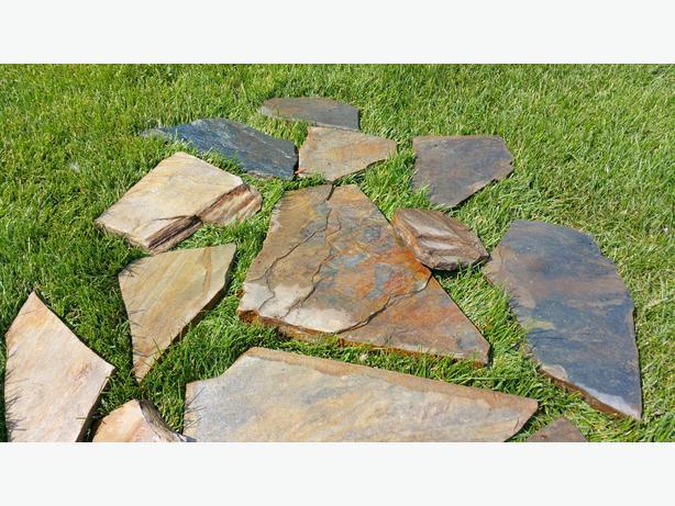 Slate and other flat rock north regina regina for Landscaping rocks windsor ontario