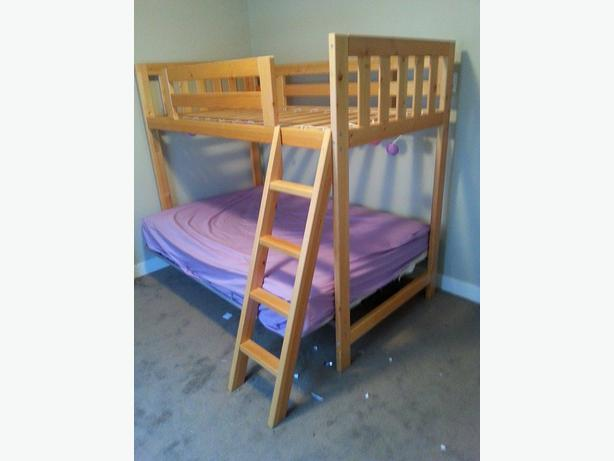 Highend Single Top Double Futon Bottom Bunk Bed Outside
