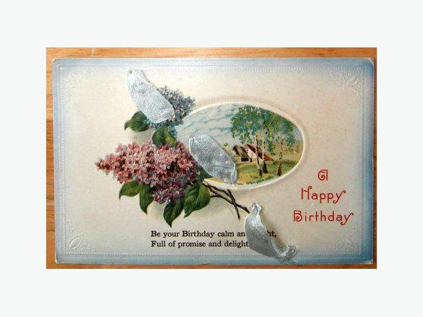 Vintage Birthday Post Card Circa 1915-c