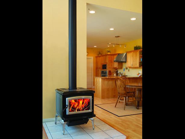 Propane Freestanding Fireplace Stove Pacific Energy Classic Outside Victori