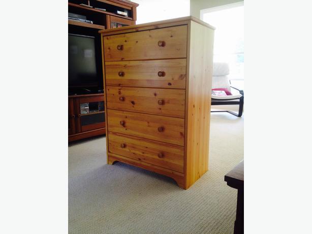 solid pine 5 drawer dresser nanoose bay nanaimo