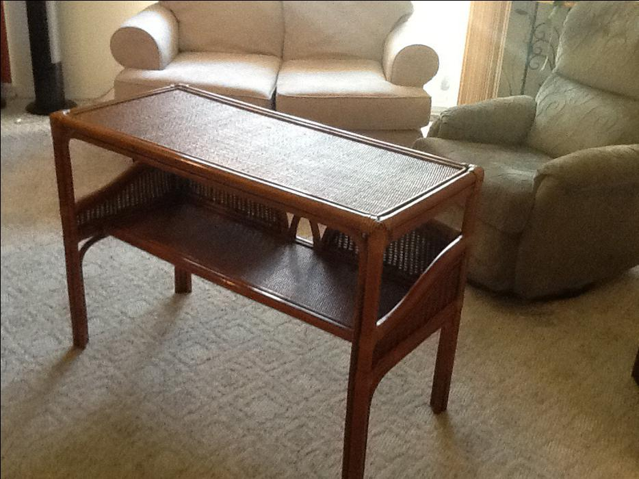Foyer Table Used : Rattan foyer couch table courtenay comox