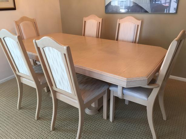 White Oak Dining Room Table 6 Chairs China Cabinet Victoria City Victoria
