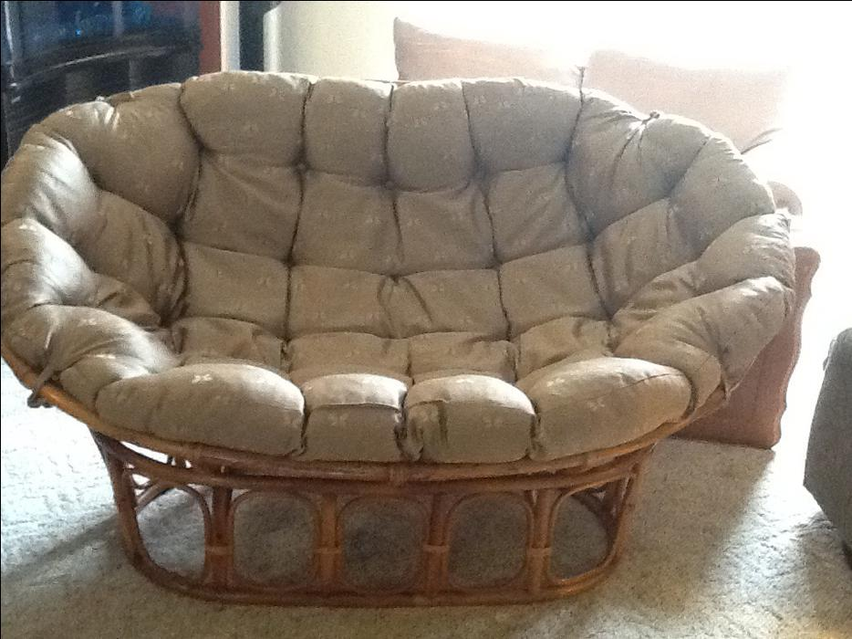 Papasan Couch And Chair Courtenay Comox Valley