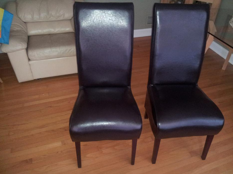 beautiful leather parsons chairs 2 nepean ottawa mobile