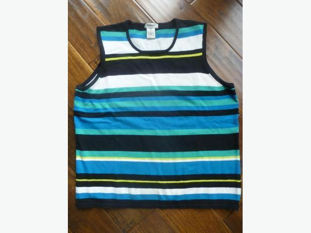 Really soft knitted striped tank top size Med EUC