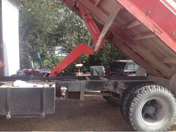 2 TRUCKS WITH GRAIN BOX & HOIST c/w WET KIT