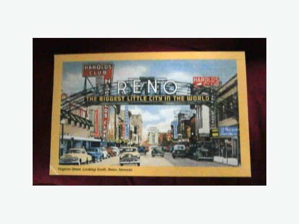 1950 Reno Nevada Casino Row; The Biggest Little City in the World